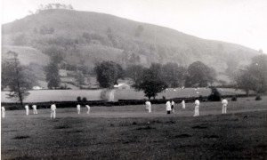 Pontesbury cricket team on Nags field 3